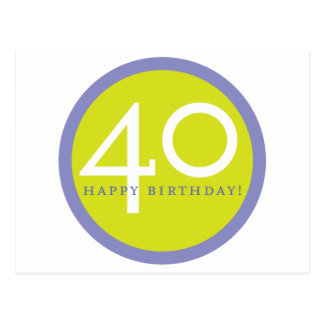 ¡Feliz cumpleaños 40 Tarjetas Postales