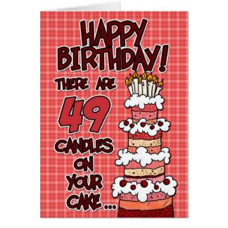 Feliz cumpleaños - 49 años tarjeta de felicitación