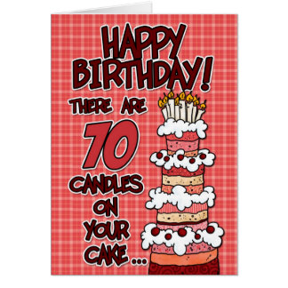 Feliz cumpleaños - 70 años tarjeta