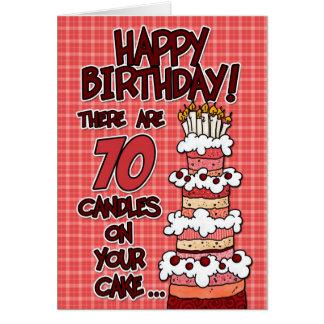 Feliz cumpleaños - 70 años tarjeta de felicitación