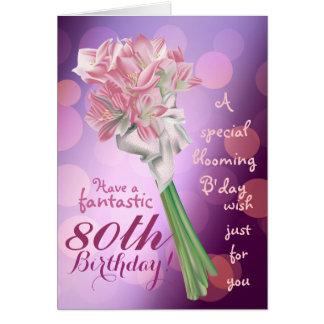 ¡Feliz cumpleaños - 80 a tarjeta de felicitación
