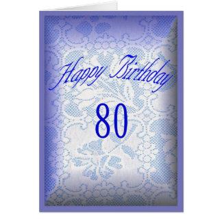 Feliz cumpleaños 80 años tarjeta de felicitación