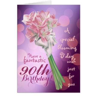 ¡Feliz cumpleaños - 90 a tarjeta de felicitación
