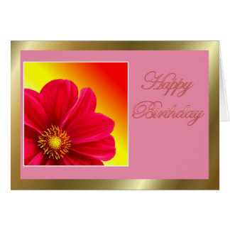 Feliz cumpleaños a la esposa del marido con las fl tarjeta