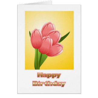 Feliz cumpleaños a la esposa del marido con las tarjeta de felicitación