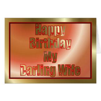 Feliz cumpleaños a la esposa del marido tarjetón