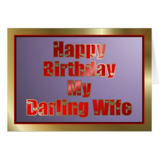 Feliz cumpleaños a la esposa del marido tarjeton