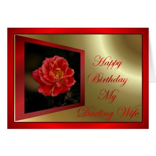Feliz cumpleaños a la esposa del marido tarjeta