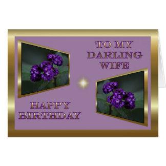 Feliz cumpleaños a la esposa del marido tarjeta de felicitación