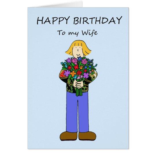 Feliz cumpleaños a la esposa lesbiana tarjeta de felicitación