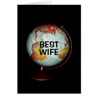 ¡Feliz cumpleaños a la mejor esposa en la tierra! Tarjeta De Felicitación