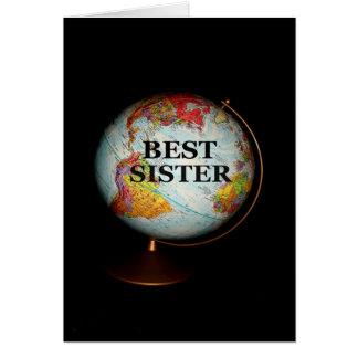 ¡Feliz cumpleaños a la mejor hermana en la tierra! Tarjeta De Felicitación