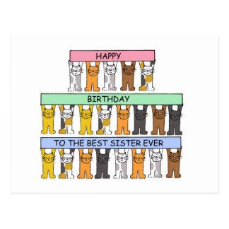 Feliz cumpleaños a la mejor hermana nunca tarjetas postales
