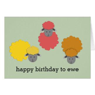 Feliz cumpleaños a la oveja tarjeta