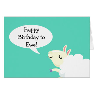 ¡Feliz cumpleaños a la oveja! Tarjeta de las