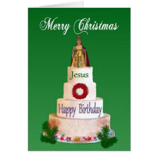 Feliz cumpleaños a la tarjeta de Navidad de Jesús
