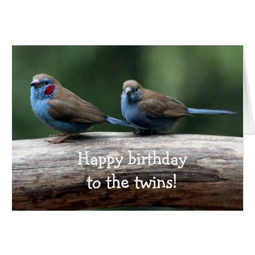 ¡Feliz cumpleaños a los gemelos! Felicitaciones