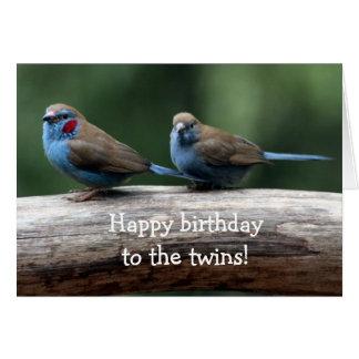 ¡Feliz cumpleaños a los gemelos! Tarjeta De Felicitación