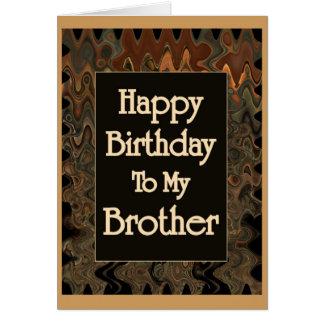 Feliz cumpleaños a mi Brother Tarjeta De Felicitación