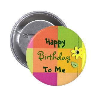 Feliz, cumpleaños, a mí chapa redonda de 5 cm