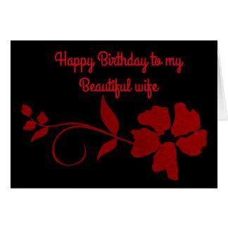 Feliz cumpleaños a mi esposa hermosa tarjeta de felicitación