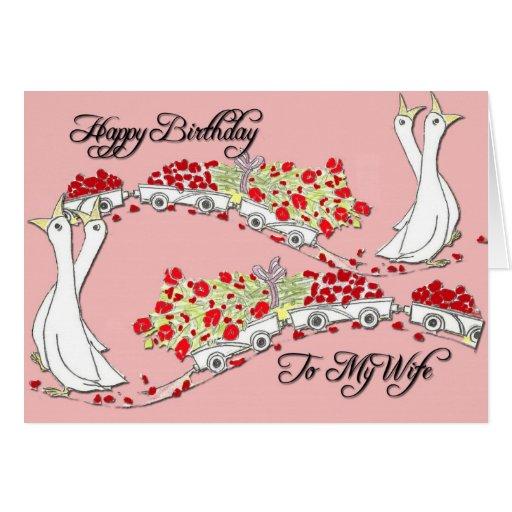Feliz cumpleaños a mi esposa felicitación