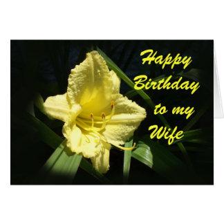 Feliz cumpleaños a mi esposa tarjeta de felicitación