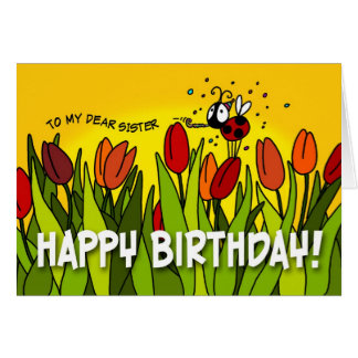 Feliz cumpleaños - a mi estimada hermana felicitacion
