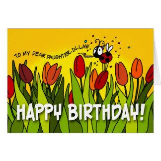 Feliz cumpleaños - a mi estimada nuera tarjeta de felicitación