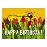 Feliz cumpleaños - a mi estimada sobrina felicitacion