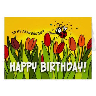 Feliz cumpleaños - a mi estimado Brother Card Tarjeta De Felicitación