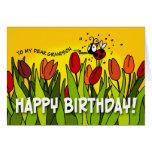 Feliz cumpleaños - a mi estimado nieto tarjeta