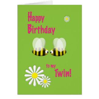 Feliz cumpleaños a mi gemelo tarjeta de felicitación