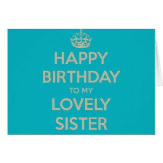 Feliz cumpleaños a mi hermana preciosa tarjeta de felicitación