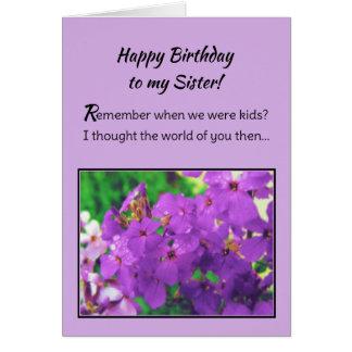 ¡Feliz cumpleaños a mi hermana! Tarjetón