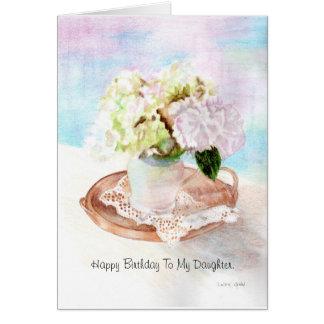 Feliz cumpleaños a mi hija tarjeta de felicitación