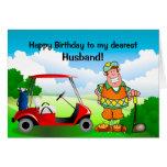 Feliz cumpleaños a mi Marido-Golfista más estimado Tarjeton