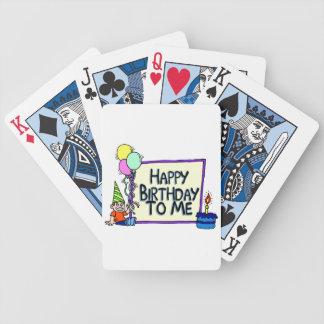 Feliz cumpleaños a mí muchacho cartas de juego
