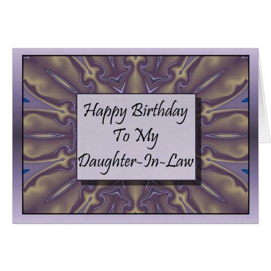 Feliz cumpleaños a mi nuera tarjeta de felicitación