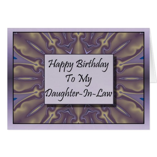 Feliz cumpleaños a mi nuera tarjeton