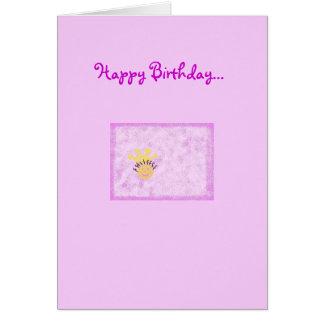 Feliz cumpleaños a mi pequeña princesa tarjeta de felicitación