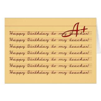 Feliz cumpleaños a mi práctica de la caligrafía tarjeta de felicitación