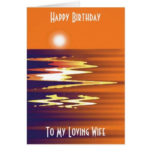Feliz cumpleaños a mi tarjeta cariñosa de la espos