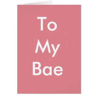 Feliz cumpleaños a mi tarjeta de Bae