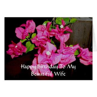 Feliz cumpleaños a mi tarjeta hermosa de la esposa