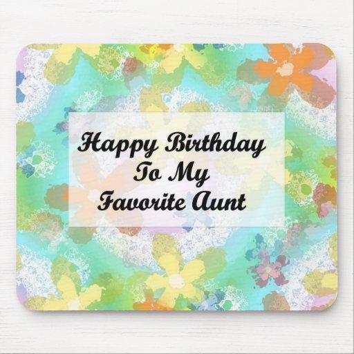 Feliz cumpleaños a mi tía preferida tapetes de ratón
