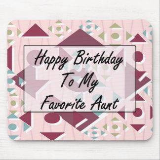 Feliz cumpleaños a mi tía preferida tapete de raton