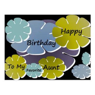 Feliz cumpleaños a mi tía preferida postal