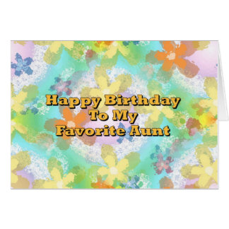 Feliz cumpleaños a mi tía preferida tarjeta