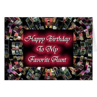 Feliz cumpleaños a mi tía preferida tarjetas